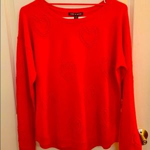 New Cable & Gauge Red Heart Crewneck Sweater L ❤️